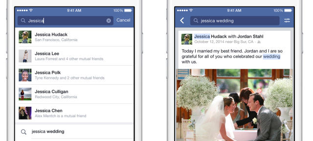 Facebook : Graph Search - Recherche de publications sur iOS