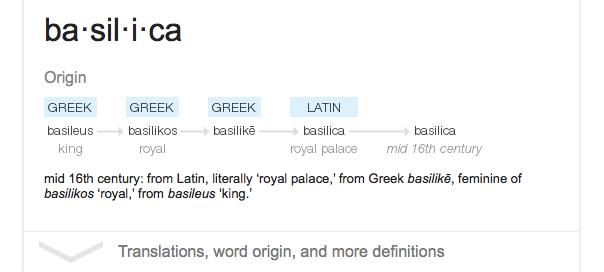 Google : L'étymologie des mots en OneBox dans les SERPS