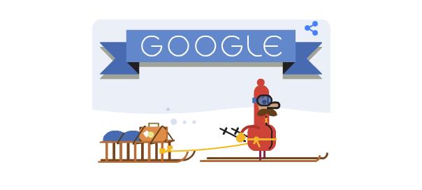Google : Doodle Joyeuses Fêtes de Noël