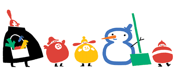 Google : Doodle solstice d'hiver