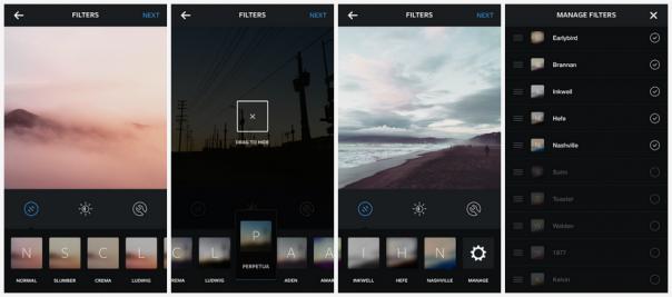 Instagram : Gérer les filtres