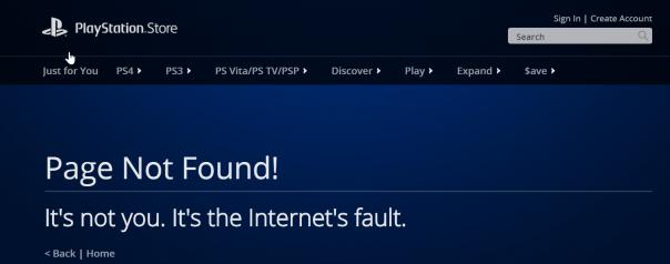 Sony PSN : Erreur