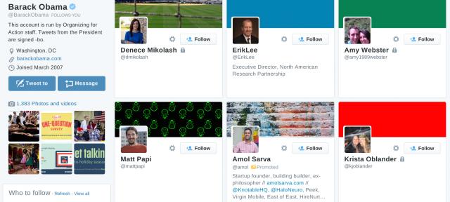 Twitter : Compte sponsorisé dans les abonnements