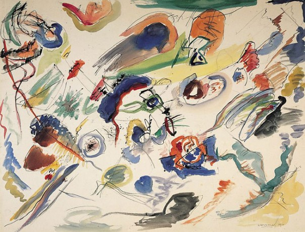 Vassily Kandinsky : Aquarelle abstraite (1910)