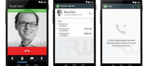 WhatsApp : Appels vocaux depuis l'application mobile
