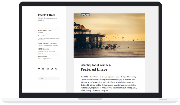 WordPress : Thème Twenty Fifteen