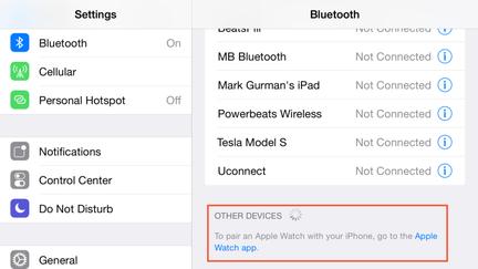 Apple Watch : Application dédiée
