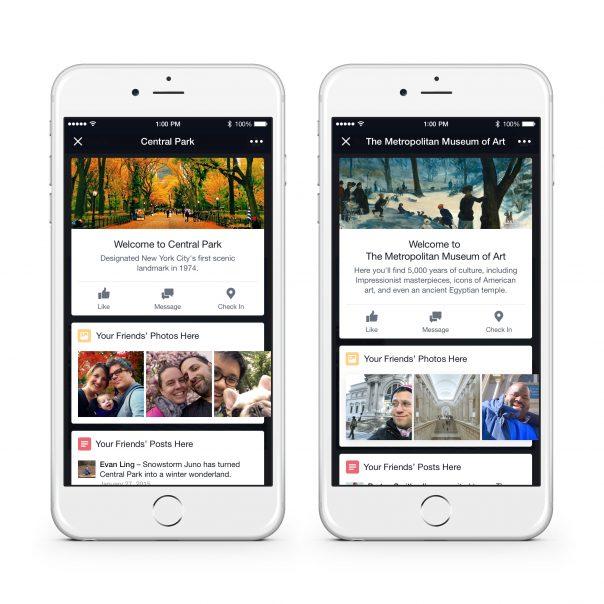 Facebook Place Tips : Fiche lieu