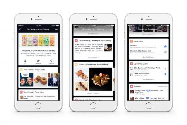 Facebook Place Tips : Fiche lieu - Détails