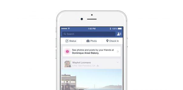 Facebook Place Tips : Fil d'actualité