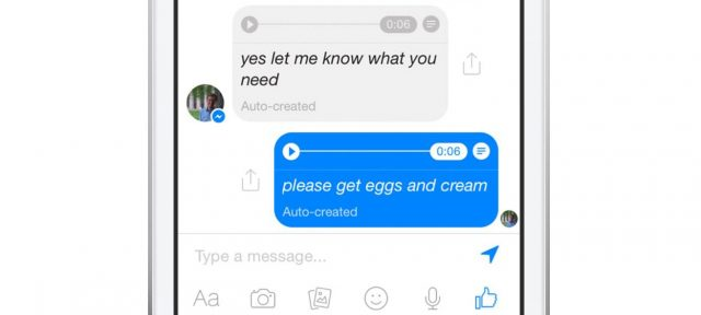 Facebook : Transcription de message audio en texte