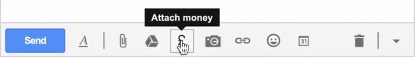 Gmail : Attacher de l'argent avec Google Wallet