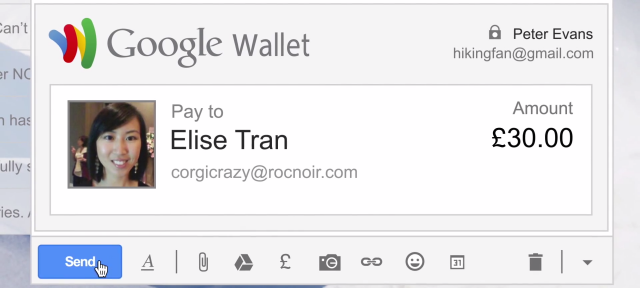 Gmail : Envoyer de l'argent avec Google Wallet