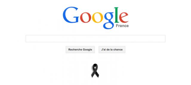 Google : Charlie Hebdo - Ruban noir