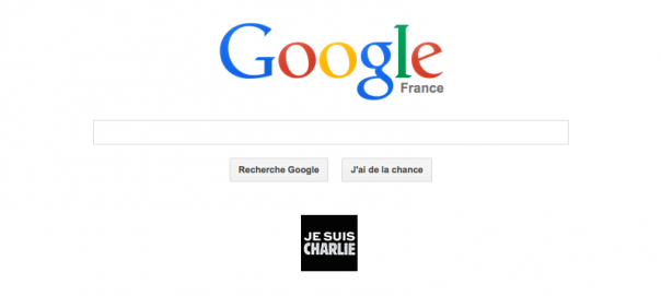 Google : Doodle Je suis Charlie