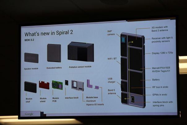Google Projet Ara : Spiral 2 - Matériel