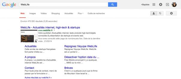 Google sans la barre de navigation noire