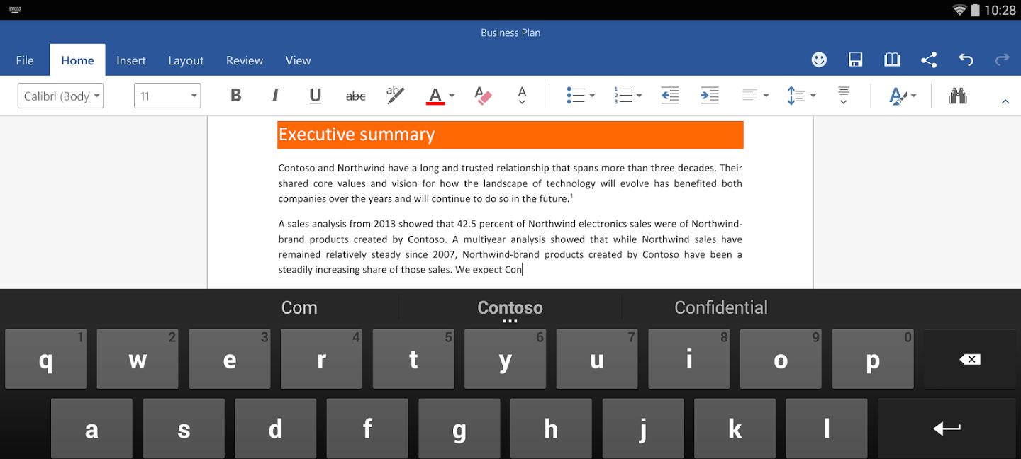 Office version preview pour android t l charger weblife - Telecharger open office gratuit pour tablette android ...