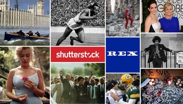 Shutterstock : Rachat de Rex Features