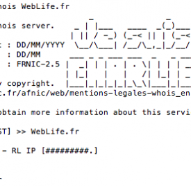 AFNIC : Je suis Charlie pour les Whois de domaines français