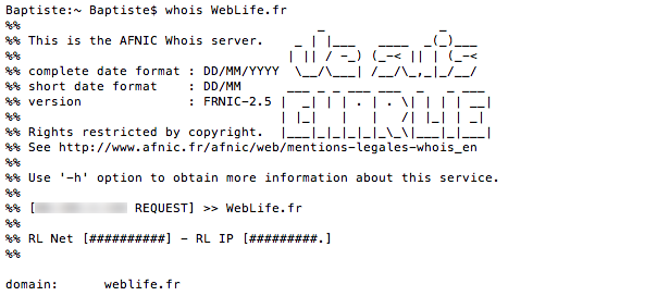 Whois AFNIC : Je suis Charlie