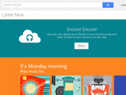 Google Music : 50 000 chansons