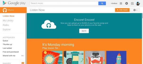 Google Music : 50 000 chansons en streaming gratuitement