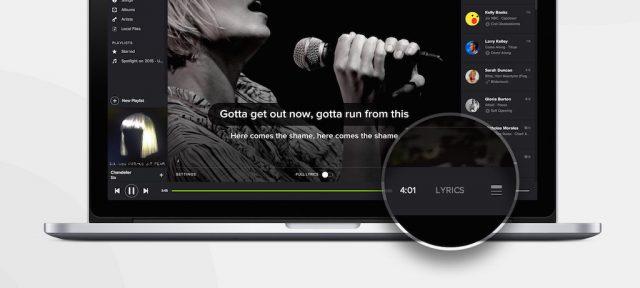 Spotify : Paroles de chansons