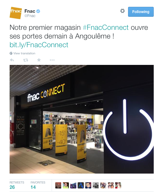 FNAC Connect Tweet