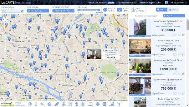 Carte Immobilière : Annonces géolocalisées