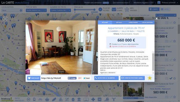 Carte Immobilière : Petite annonce