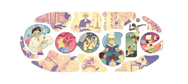 Google : Journée internationale de la femme en doodle