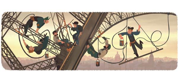 Google : Doodle ouverture de la tour Eiffel