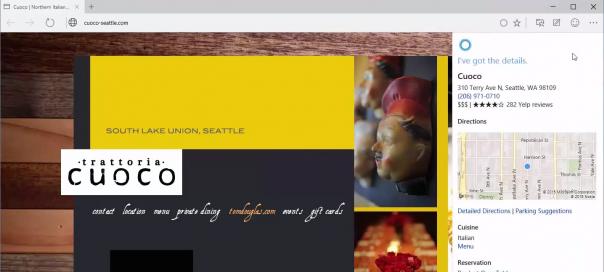 Spartan : Démonstration de l'intégration de Cortana
