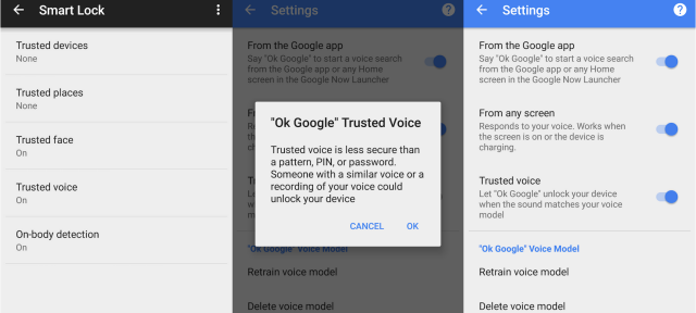 Android : Google Trusted Voice