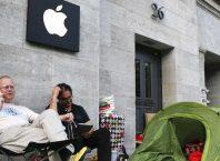 Apple Store : File d'attente
