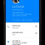 Facebook Hello : Recherche de restaurant