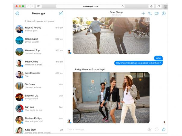 Facebook Messenger Web - Discussions