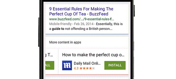 Google : L'indexation des apps comme critère de positionnement