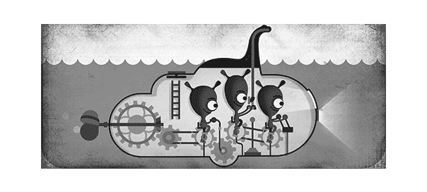 Google : Doodle Monstre du Loch Ness