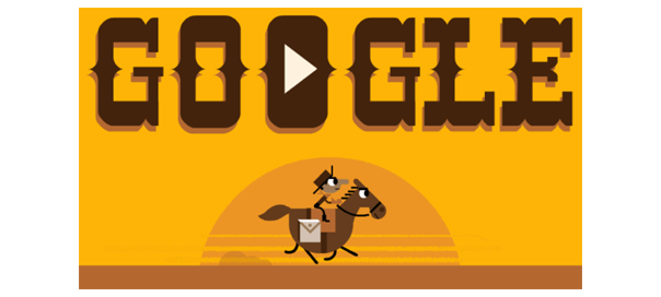 Google : Le Pony Express en doodle jeu !