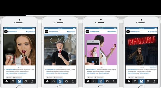 Instagram : Publicité carrousel - L'oréal Paris