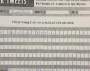 Des tweets papier durant le master de golf d'Augusta