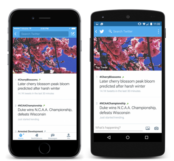Twitter : Application mobile & tendances