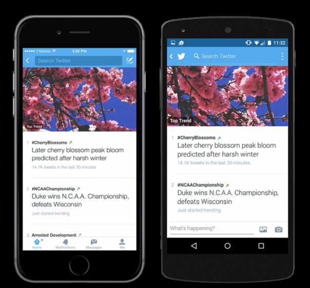 Twitter : Application mobile & tendances
