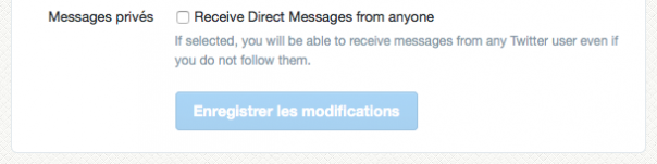 Twitter : Direct message from anyone