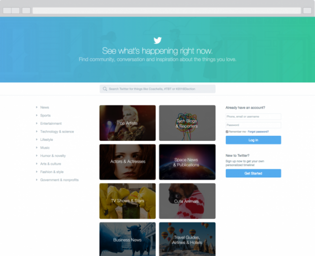 Twitter : Nouvelle Home Page