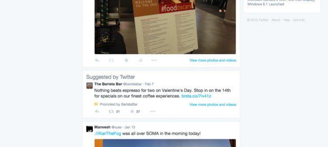 Twitter : Publicités sur les profils utilisateurs