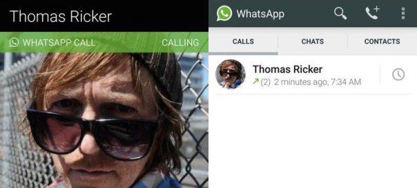 WhatApps : Les appels vocaux depuis l'app Android