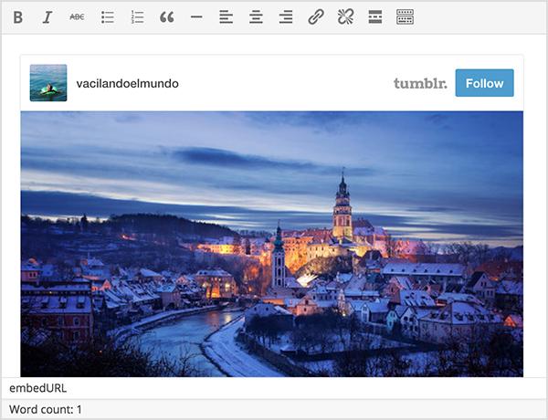 WordPress 4.2 : Contenus intégrés